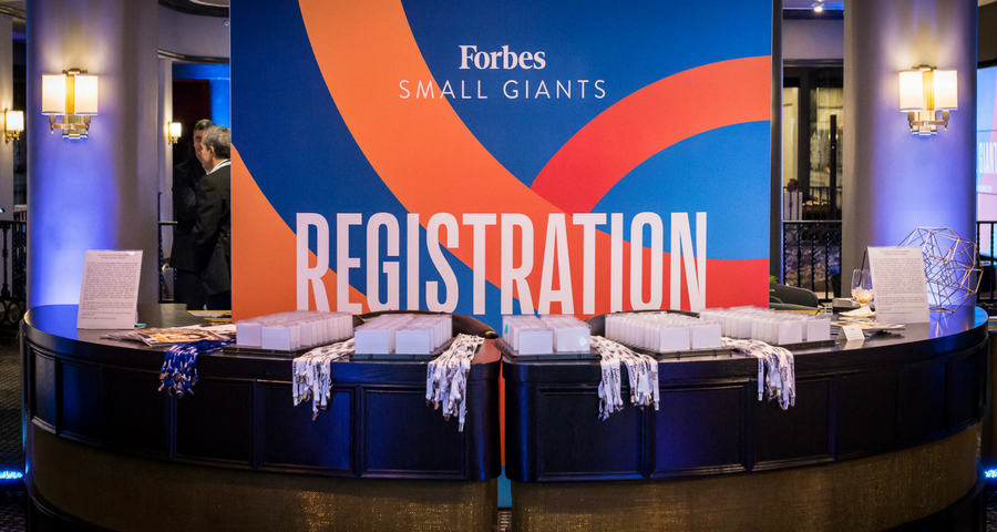 Registration and Networking Forbes Small Giants